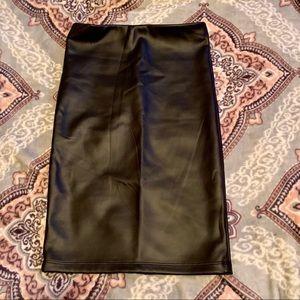 Fashion Nova Pleather Skirt.